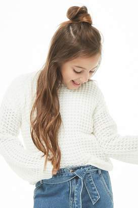Forever 21 Girls Ribbed Knit Sweater (Kids)
