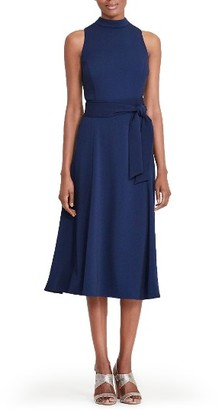 Women's Lauren Ralph Lauren Mock Neck Dress $170 thestylecure.com