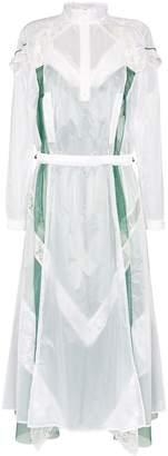 Sacai lace-trim sports maxi dress