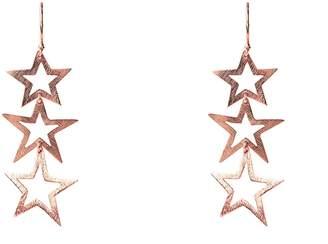 Rosegold Latelita London - Cosmic Triple Star Earring