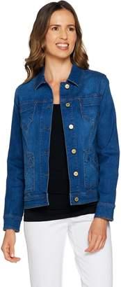 Isaac Mizrahi Live! TRUE DENIM Jean Jacket with Patch Pockets