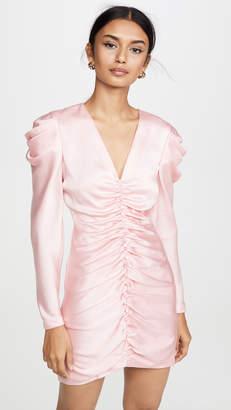 Jonathan Simkhai Crepe Back Satin Puff Sleeve Dress