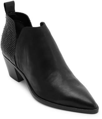 Dolce Vita Snakeskin-Textured Leather Booties