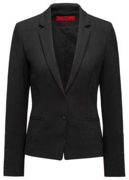 HUGO Boss Two-Button Blazer Aminca 0 Black