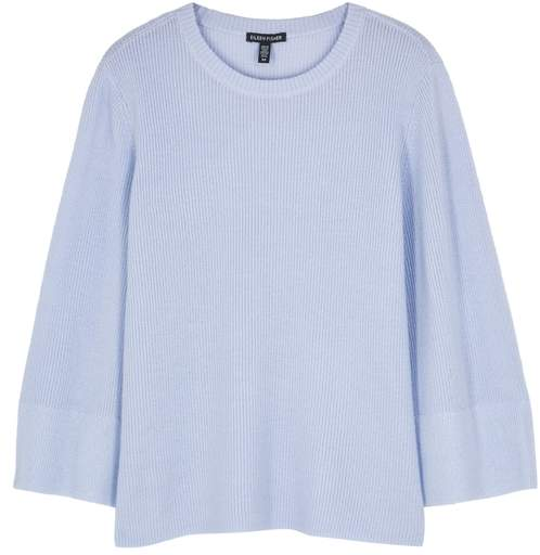 Pale Blue Merino Wool Jumper