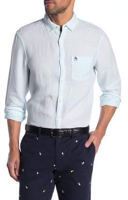 Original Penguin Long Sleeve Linen Slim Fit Shirt