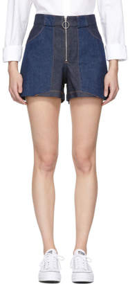 A.P.C. Indigo Denim Chrissie Shorts