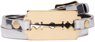 McQ Alexander McQueen Silver Razor Triple Wrap Bracelet $65 thestylecure.com