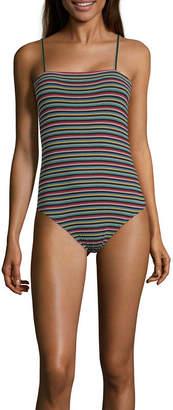 Arizona Straight Neck Sleeveless Bodysuit- Juniors