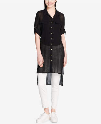 Calvin Klein Cotton High-Low Tunic