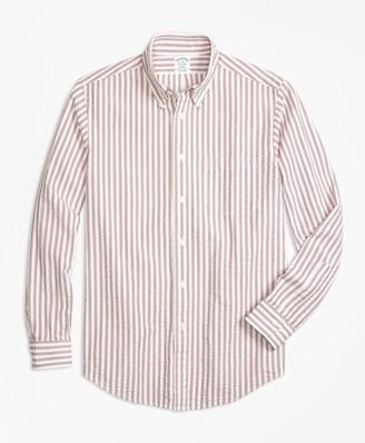 Brooks Brothers Regent Fit Triple Stripe Seersucker Sport Shirt
