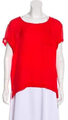 Rag & Bone Silk Short Sleeve Top