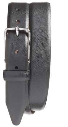Nordstrom Evans Saffiano Leather Belt
