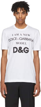 Dolce & Gabbana White Model Logo T-Shirt
