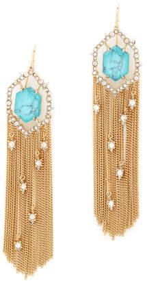 Alexis Bittar Crystal Framed Tassel Earrings $275 thestylecure.com