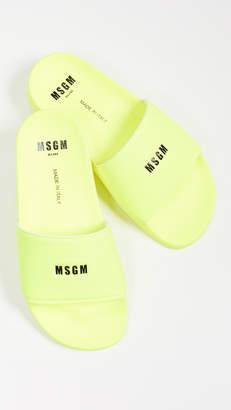 MSGM Micro Logo Pool Slides