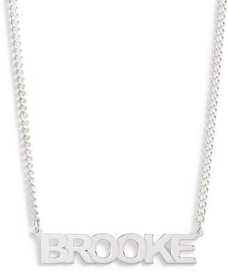 JANE BASCH DESIGNS Jane Basch Personalized Block Nameplate Necklace
