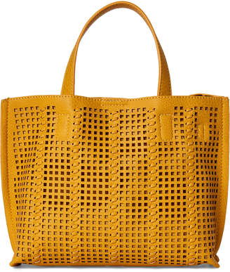 Street Level Yellow Perforated Mini Tote