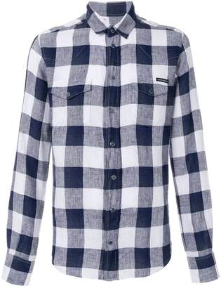 Dolce & Gabbana checked snap fastened shirt