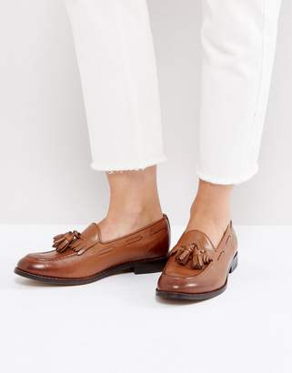 H By Hudson Leather Tassle Loafers