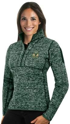 Antigua Women's Milwaukee Bucks Fortune Pullover