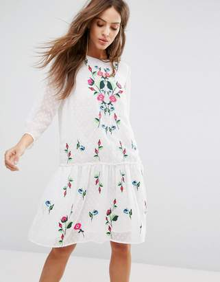 Y.A.S Embroidered Summer Dress $95 thestylecure.com