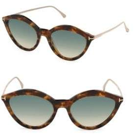Tom Ford Chloe 57MM Oval Sunglasses
