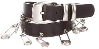 Gianni Versace Safety Pin Leather Belt