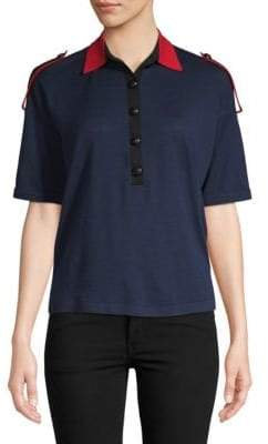 Burberry Colorblock Wool Polo
