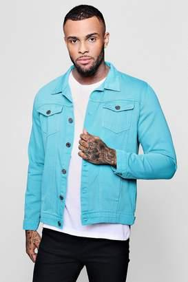 boohoo Turquoise Denim Jacket
