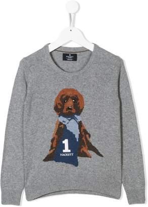 Hackett Kids dog motif jumper