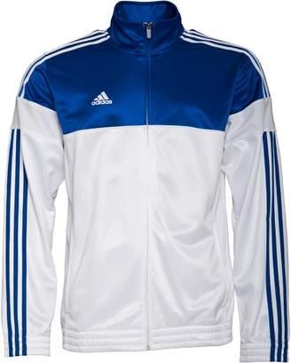 adidas Mens 3 Stripe Warm Up Basketball Track Jacket Core Royal/White