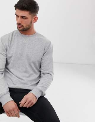 New Look sweatshirt with crew neck in gray