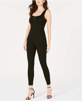 17eaf5571f82 GUESS Sleeveless Lace-Up Jumpsuit