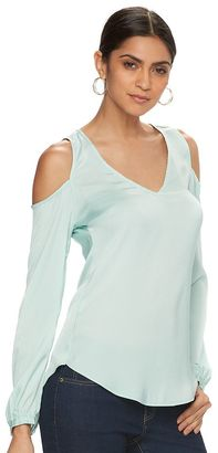 Women's Jennifer Lopez Cold-Shoulder Blouse $48 thestylecure.com