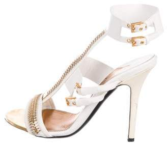 Tom Ford Zip Leather Sandals gold Zip Leather Sandals