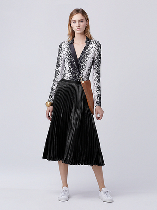 Heavyn Pleated Midi Skirt $348 thestylecure.com