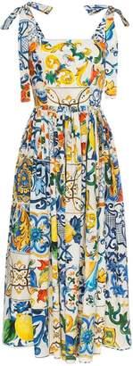 Dolce & Gabbana maiolica print midi dress