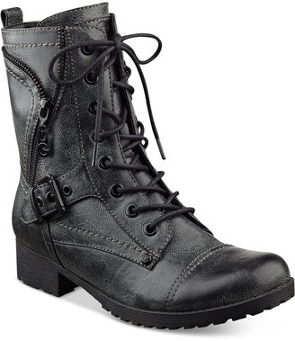 G by GUESS Brylee Lace-Up Combat Booties $79 thestylecure.com
