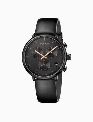 Calvin Klein high noon leather chronograph watch