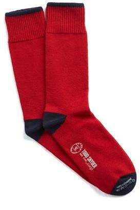 Corgi Cashmere Socks in Ruby Red