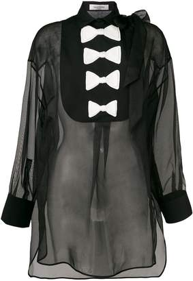 Valentino bow-detail long sleeve blouse