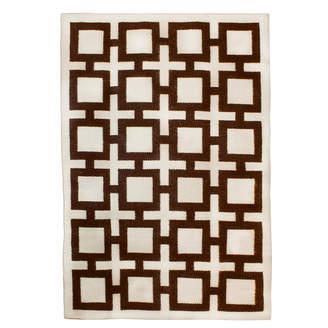 Jonathan Adler Brown Nixon Reversible Peruvian Flat Weave Rug
