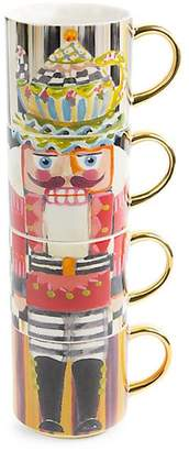 Mackenzie Childs MacKenzie-Childs Nutcracker Four-Piece Mug Tower