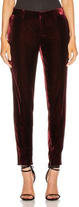 Saint Laurent Skinny Tailored Pant in Bordeaux | FWRD