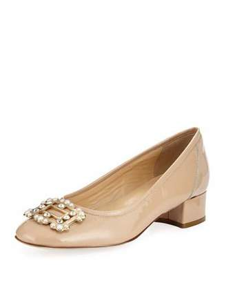 Sesto Meucci Heda Pearly Embellished Pumps, Ecru