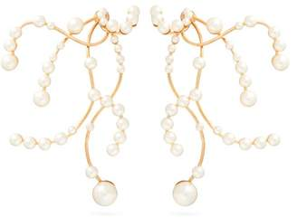 Peter Pilotto Faux Pearl Embellished Branch Earrings - Womens - Pearl