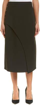 BCBGMAXAZRIA Snap-Side Midi Skirt