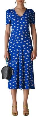 Whistles Jolanta Daisy-Print Midi Dress