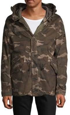 Jet Lag Camouflage-Print Parka
